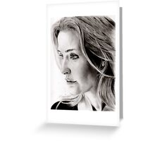 Gillian Anderson charcoal Greeting Card