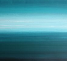 Let Go - abstract turquoise blue by Kimberley Bruce