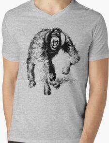 vector monkey Mens V-Neck T-Shirt