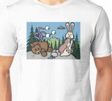 Teddy Bear and Bunny - The Confession Unisex T-Shirt