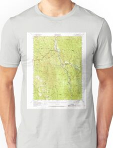 USGS TOPO Map California CA Willow Creek 301999 1952 62500 geo Unisex T-Shirt