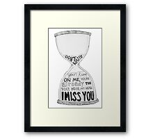 I Miss You - Blink 182 (2) Framed Print