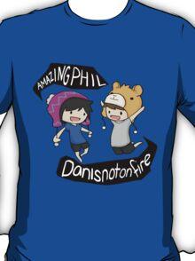 Amazingphil & Danisnotonfire cartoon T-Shirt