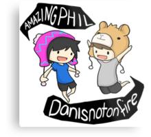 Amazingphil & Danisnotonfire cartoon Metal Print