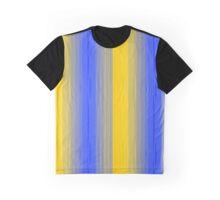 Golden Blue - Original Abstract Design Graphic T-Shirt
