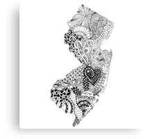 New Jersey Doodle Metal Print
