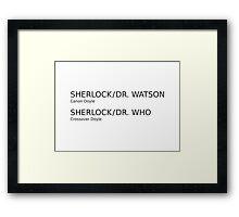 Sherlock & Dr. Watson & Dr. Who  Framed Print