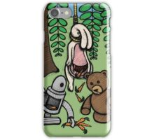 Teddy Bear And Bunny - Making The Most Of It iPhone Case/Skin