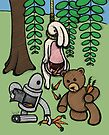 Teddy Bear And Bunny - Making The Most Of It by Brett Gilbert