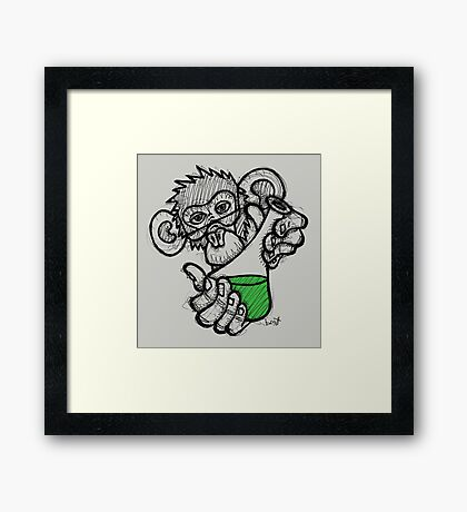 Lab Monkey Framed Print