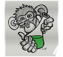 Lab Monkey Poster