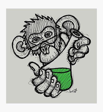 Lab Monkey Photographic Print