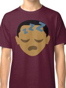 "Barack ""The Emoji"" Obama Sleepy ZZZ Face Classic T-Shirt"