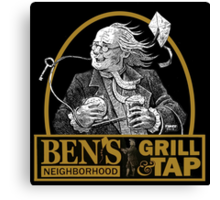 Bens Bar and Grill LOGO Canvas Print