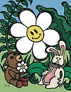 Teddy Bear And Bunny - Stand Off by Brett Gilbert