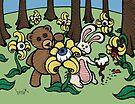Teddy Bear And Bunny - Eye See You by Brett Gilbert