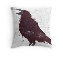 The Dark Bird Throw Pillow