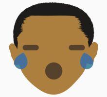 """Barack """"The Emoji"""" Obama Teary Eyes and Sad Face One Piece - Short Sleeve"""