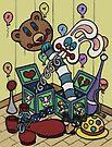 Teddy Bear And Bunny - Jacks In The Box by Brett Gilbert
