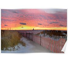 Wintery Sunset Poster