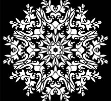 White ornamrental round pattern by IraMukti
