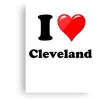 I Love Cleveland Canvas Print