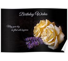 Lavender and Roses - Birthday Card Poster