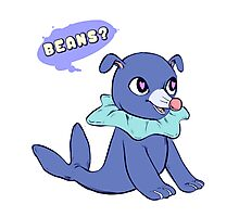 popplio is thinking about beans Photographic Print