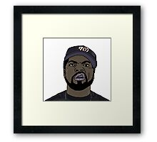 Ice Cube Cartoon Framed Print
