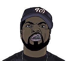 Ice Cube Cartoon Photographic Print
