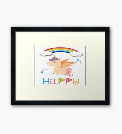 My little Happy Pony! Framed Print