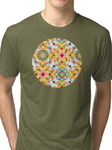 Groovy Deco Geometric (small scale) Tri-blend T-Shirt