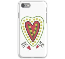 Love peas! iPhone Case/Skin