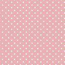 Vintage Pastel Salmon Pink Polka Dot by B Rush