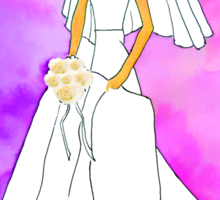 Pretty bride inspired by Barbie Sticker