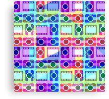 Colorful camera pattern II Canvas Print