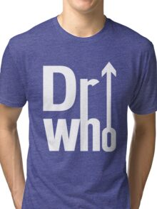 Doctor (The) Who - White Tri-blend T-Shirt