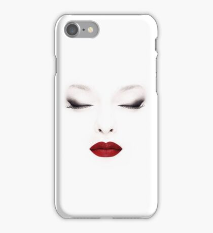 Painted Face With Makeup iPhone Case/Skin