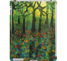 Tulips amongst Bluebells at sunset iPad Case/Skin