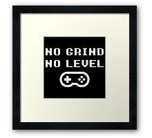 NO GRINDING = NO LEVEL Framed Print