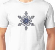 Snowflake with Hints of Blue Unisex T-Shirt