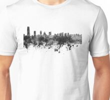 Jersey City skyline in black watercolor Unisex T-Shirt