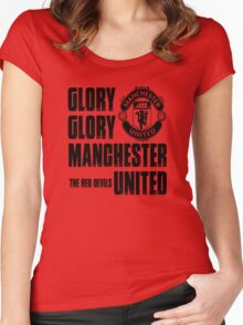 Manchester United Women's Fitted Scoop T-Shirt