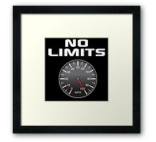 Amazing 'No Limits' Speedometer Limited Edition T-Shirt Framed Print