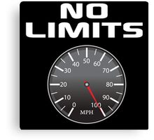 Amazing 'No Limits' Speedometer Limited Edition T-Shirt Canvas Print