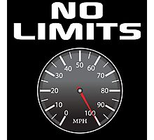Amazing 'No Limits' Speedometer Limited Edition T-Shirt Photographic Print