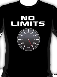 Amazing 'No Limits' Speedometer Limited Edition T-Shirt T-Shirt