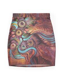 Eye'm Watching You! Mini Skirt
