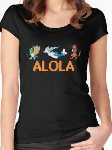 Alolan Starters: Decidueye, Primarina, and Inciniroar! Women's Fitted Scoop T-Shirt