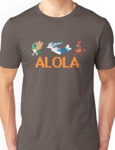 Alolan Starters: Decidueye, Primarina, and Inciniroar! Unisex T-Shirt